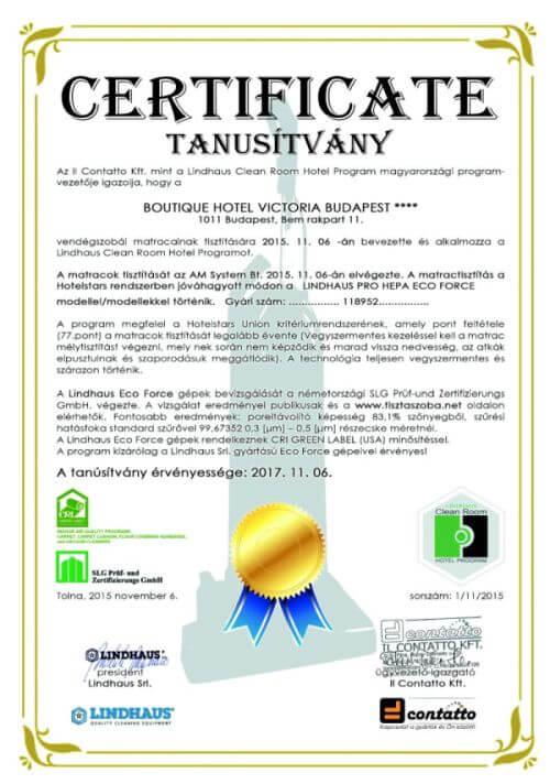 Certificate Lindhaus
